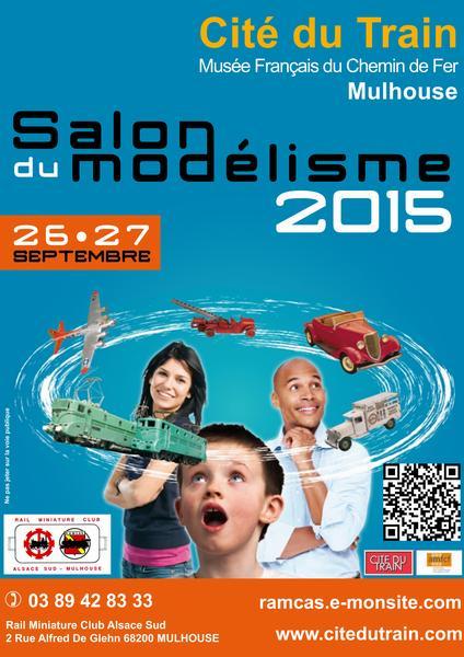 Exposition modélisme Cité du train 2015 26 et 27 septembre Affiche15_600